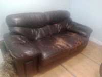 Free Leather Sofa - Can Deliver for Small Fee