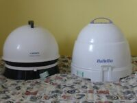 Carmen and Babyliss portable hood dryers