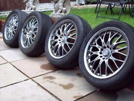"""BK RACING 17"""" ALLOYS 5X110 & 5X112 VAUXHALL SAAB ALFA - VW GOLF MK5 T4 MERC VITO - I WILL POST"""