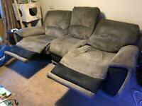 Electric powered recliner 3 seater