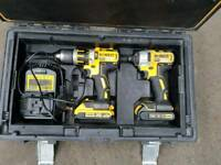 DEWALT BRUSHLESS 18V DRILL AND IMPACT DRIVER