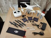 DJI Phantom 3 Professional 4K Drone & Accessory Pack (incl. Hardcase backpack)- Excellent Condition