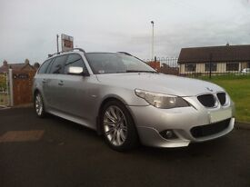 2007 (07) BMW 520d E61 M Sport Touring 12 Months MOT 5 Series 520 Msport Estate Manual Leather