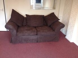 Brown 2 Seater Sofa Bed