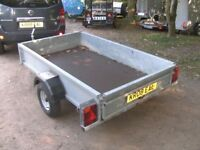 GALVANISED 7 X 4 (750KG UNBRAKED) GOODS TRAILER WITH DROPTAIL.....