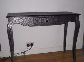 side lamp table with drawer or tv stand