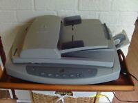 HP Scanjet 5590 digital flatbed scanner, translucent materials adaptor to scan 35mm slides/negatives