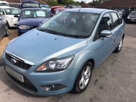 2008/08 FORD FOCUS 1.6 ZETEC 5 DR BLUE,GREAT ECONOMY, HEATED SCREEN,LOOKS AND DRIVES WELL