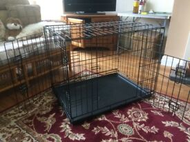 Dog Crate. Width 780 x Height 600 x Depth 550. Doors on 2 sides.Used once over night.
