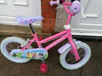 "DISNEY PRINCESS girls bike 14"" wheels in good condition"