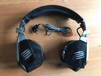 Mad catz freq 3 pc / mac gaming headset *unused*