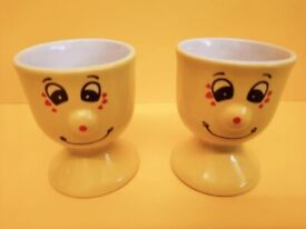 FUNNY FACE EGG CUPS X 2 - TRADE WINDS FUNNY FACE
