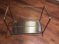 Metal plate drying rack