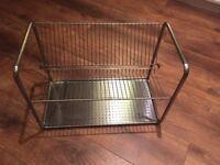 Metal plate drying rack
