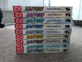 Saiyuki manga volumes 1-9 in perfect condition