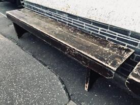 Gorgeous 7ft vintage pine bench