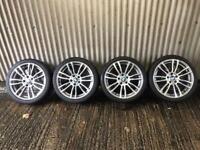"Genuine 19"" BMW 3 Series M Sport Plus Staggered Alloy Wheels - 5x120 - 316, 318, 320 F30"