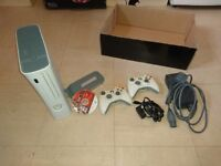 Xbox 360 with 2 controllers, PGR4 racing game and hard drive