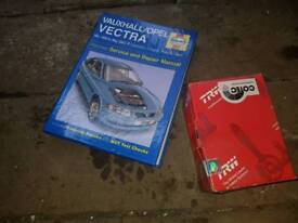 Vauxhall vectra brake pads and Haynes manual