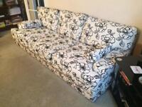 3 piece suite, footstool & cushions