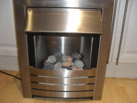 Electric Fire Brushed Steel Finish