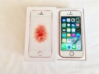 Apple iPhone SE 64GB Rose Gold in box factory unlocked sim-free in box with all accessories for sale