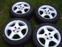 BBS alloy wheels with Yokohama 195 50 15 tyres, Vauxhall fitment, Corsa, Nova etc