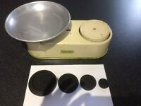 Harper vintage weighing scales with weights