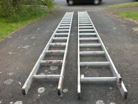 Double aluminium extension ladder (2 x 4.7metres)