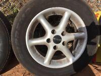 4x Mazda Bongo / Ford Friendee alloy wheels &tyres plus spare tyre