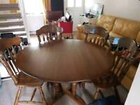 Ercol Dining Table with 4 chairs