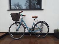 Vintage style revamped ladies trek hybrid bike