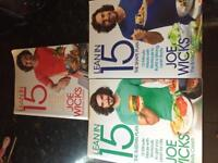 Joe Wicks - Lean in 15 Cooking, Diet and Fitness Paperback books x 3
