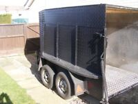 Large box trailer twin axle, motorcycle or whatever!