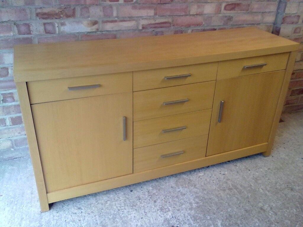Big beech chest of drawers