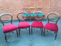 4 Antique Mahogany Dining Chairs in Good Condition