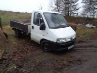PEUGEOT BOXER DROPSIDE PICK UP 2.0 DI 2002 WITH ONLY 33000 MILES SPARES OR REPAIRS