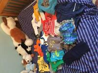 Lot of boys summer clothes sizes from 3-9 months.