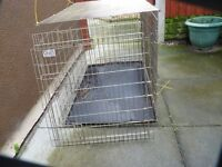 CROFT EXTRA EXTRA LARGE DOG CAGE,WITH TRAY, GOOD CONDITION, £40, CAN DELIVER