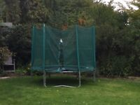 8ft Trampoline. Good condition with saftey net and galvanised frame.