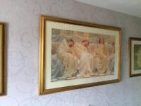 Large picture wooden heavy frame