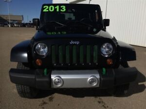 2013 Jeep Wrangler SAHARA, HARD TOP, 3M, BLACK BEAUTY