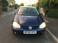 VW Golf 2.0 GT-TDi 2005 Blue New 12 MONTHS MOT Service History £1295