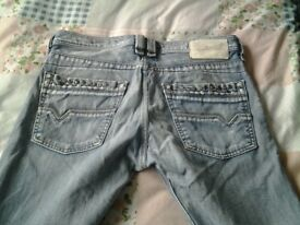 diesel jeans, 1 pair dark and 1 light