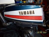 Two 2 stroke engines a Yamaha 8 horse power long shaft & Chrysler 3.6 horse power standard shaft)