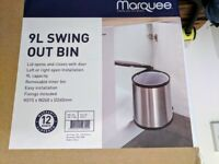Brand new, unused swing bin