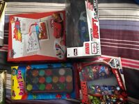 Bundle of new toys all in boxes cars dolls clothes dressing up ps4 game all new toys !
