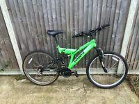 cheap mens full suspension mountain bike ideal students bike