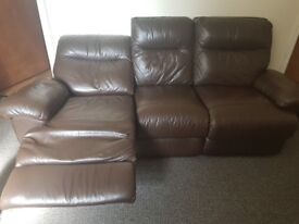 3&2 Seater Leatger Recliner Sofa's