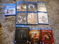 selection of blue ray dvds